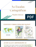 As Escalas Cartográficas
