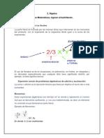 2. Álgebra y 3. Manejo de la información estadística Temario Comipems