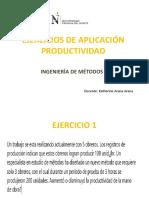 EJERCICIOS DE APLICACIÓN PRODUCTIVIDAD