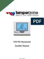 TZT 701 Installer Manual