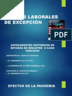 PRESENTACIÃ_N CONFERENCIA NORMAS LABORALES DE EXCEPCIÃ_N PDF DR Landelino Franco