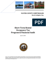 Ulster County Short-Term Rental Occupancy Tax Audit Report