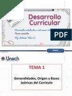 1_Generalidades, Origen y Bases Teóricas Del Currículo _APTE