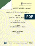 GENERADORES DE VAPOR ACUOTUBULARES