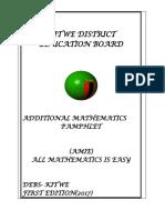 Additional mathematics O-levels