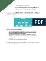 Guía de lectura Acerca del Objeto y las problem -Campan cap.1
