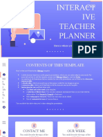 Interactive Teacher Planner by Slidesgo