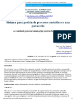 Vista de Sistema para gestión de procesos contables en una panadería _ Revista Científica de FAREM-Estelí