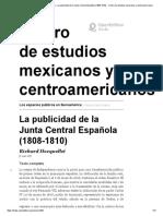 7La publicidad de la Junta Central Española (1808-1810)