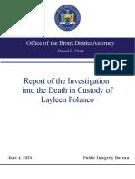 Bronx DA Report on Layleen Polanco's Death