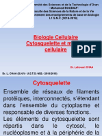 Cours.Dr.CHAA.Biologie.Cellulaire.Cytosquelette.2018.2019