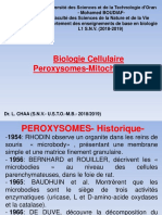 Cours_Dr CHAA_Biologie Cellulaire_Peroxysomes_Mitochondries_2018_2019