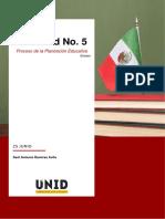 Actividad No. 5 Ensayo Proceso de la Planeación Educativa