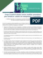 Comunicado Coronavirus Nuevas Medidas_12032020