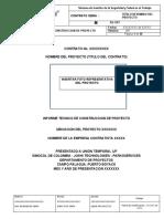 ANEXO 03 Formato Modelo Informe Tecnico de Construccion proyectos para contratistas