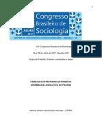 GOULART, Mônica. Famílias e estruturas de poder na assembleia legislativa do Paraná. (2017)