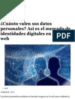 ¿Cuánto valen sus datos personales? Así es el mercado de identidades digitales en la dark web - elEc