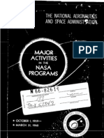 Major Activities in NASA Programs October 1, 1959 - March 31, 1960
