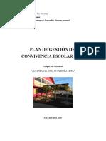 T6-PLAN DE GESTIÓN DE   CONVIVENCIA ESCOLAR  2019
