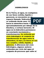 4. EL CICLO HIDROLÓGICO