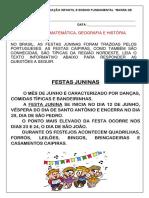 SEQUENCIA FESTA JUNINA 1 ANO