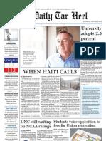 The Daily Tar Heel for January 12, 2011