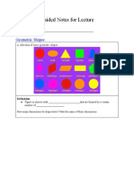 guided notes for geometric shapes and solids