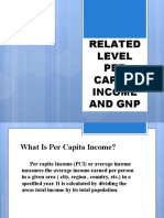 RELATED LEVEL PER CAPITA INCOME AND GNP PPT