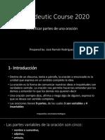 Propaedeutic Course 2020