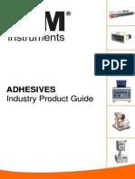 Adhesives Testing Instruments Catalog