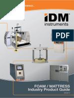 FOAM - MATTRESS Quality testing Catalogue