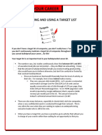 Bulletproof Your Career - Target list