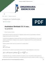 Integral por Substituição - Engenharia Exercícios
