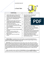 Guided Reading vs. Book Clubs Clubs