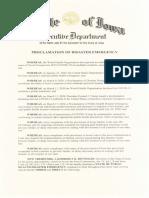Iowa Gov. Kim Reynolds - Public Health Proclamation - 6-25-2020