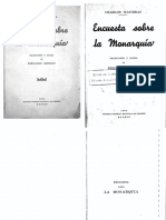 Charles Maurras - Encuesta sobre la monarquía (1935, Sociedad General Española de Librería) - libgen.lc.pdf