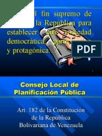 Consejo local de planificacion Diapositivas propuesta