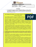 1º Medio - Lenguaje - Ficha Romanticismo - Clase 5