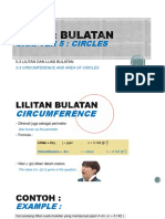 5.3. LILITAN DAN LUAS BULATAN(CIRCUMFERENCE AND AREA OF CIRCLES)