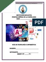 GUIA DE APRENDIZAJE TECNOLOGÍA E INFORMÁTICA 10º