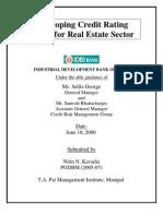 Real Estate Rating Model