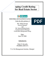 Real Estate Rating Model