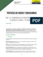 PROTOCOLO - HIGIENE Y BIOSEGURIDAD TURIRO