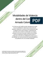 Modalidades de Violencia dentro del Conflicto Armado Colombiano