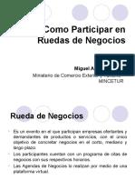 Como Participar en Ruedas de Negocios - Miguel Bernaza - MINCETUR -110620