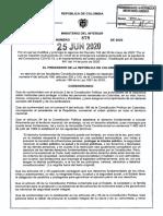 Decreto 878 del 25 de junio de 2020