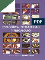 Manual Esencial Santillana Estadística Probabilidad y Precálculo