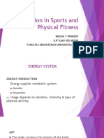Nutrition in Sports and Physical Fitness