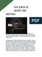 12 Pasos para la preparación del sermón