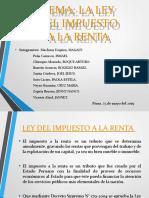 PRESENTACION GRUPAL. LA LEY DEL IMPUESTO A LA RENTA - DERECHO TRIBUTARIO II
